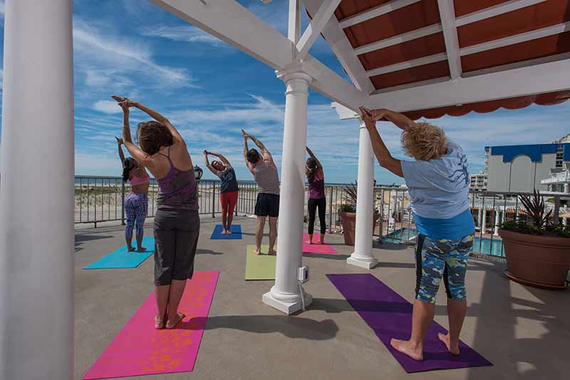 Wildwood Hotel Activities, Yoga On The Beach